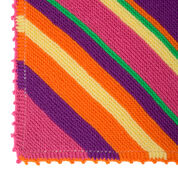 Red Heart Bright Stripes Blanket