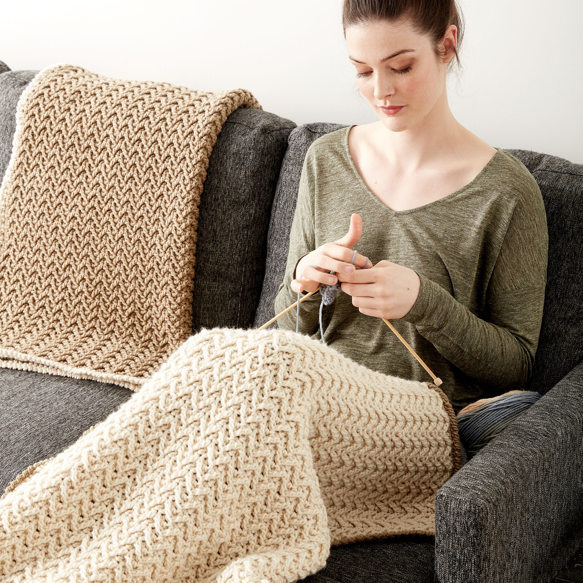 Caron Crochet Texture Lap Blanket   Yarnspirations