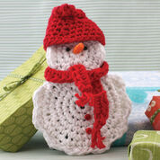 Go to Product: Lily Sugar'n Cream Snow Man Crochet Gift Card Cozy in color