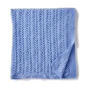 Bernat Lacy Knit Baby Blanket