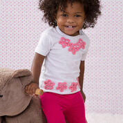 Red Heart Baby Tee Flower Appliques