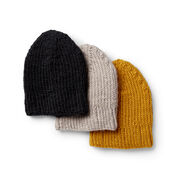 Patons Knit Wise Watchcap, Yellow