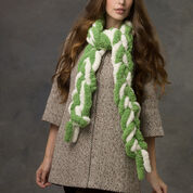 Red Heart Two-Toned Hand Chain Scarf