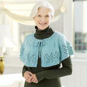 Red Heart Lacy Knit Capelet, S/M