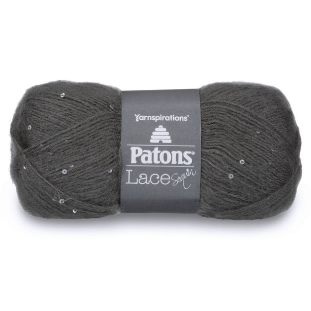 Patons Lace Sequin Yarn, Smoky Quartz - Clearance Shades* in color Smoky Quartz