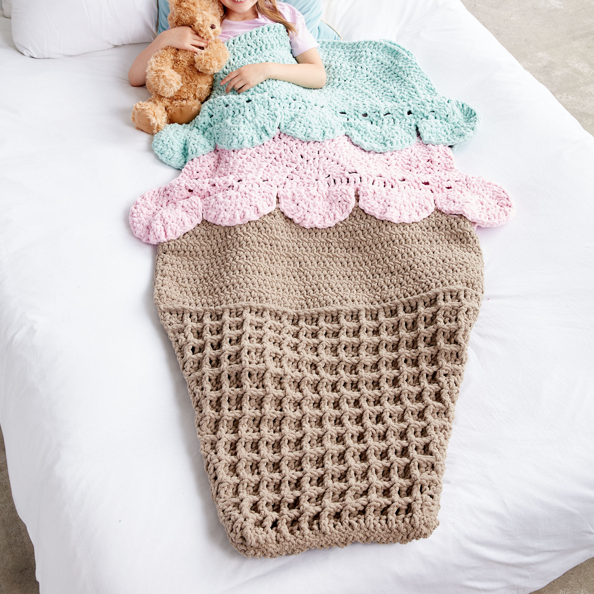 Bernat Double Scoop Crochet Snuggle Sack | Yarnspirations