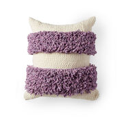 Bernat Loopy Stripes Crochet Pillow