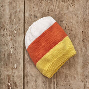 Red Heart Candy Corn Slouchy Hat, S