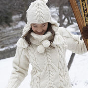 Go to Product: Patons Big Aran Sweater and Earflap Hat, XS/S in color