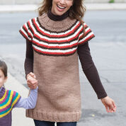Go to Product: Bernat Striped Yoke Women's Pullover, XS/S in color