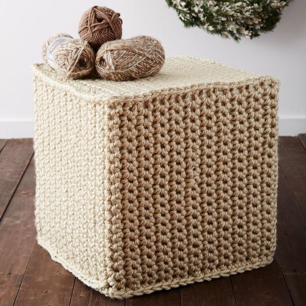 Bernat Mega Crochet Ottoman in color