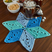Red Heart Star Table Mat