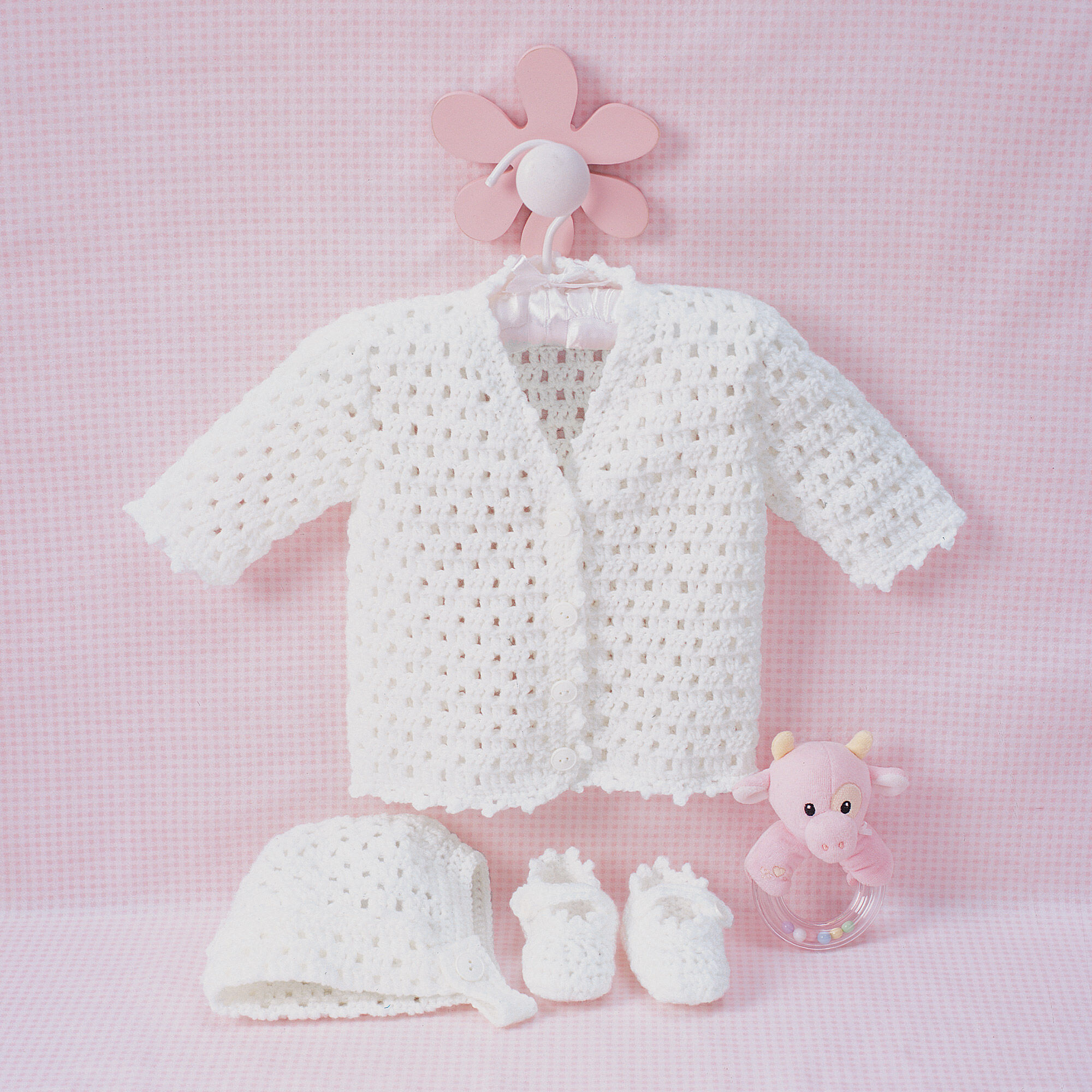 Bernat Lacy Set To Crochet Bonnet Yarnspirations