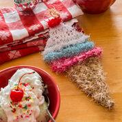 Red Heart Ice Cream Cone Scrubby