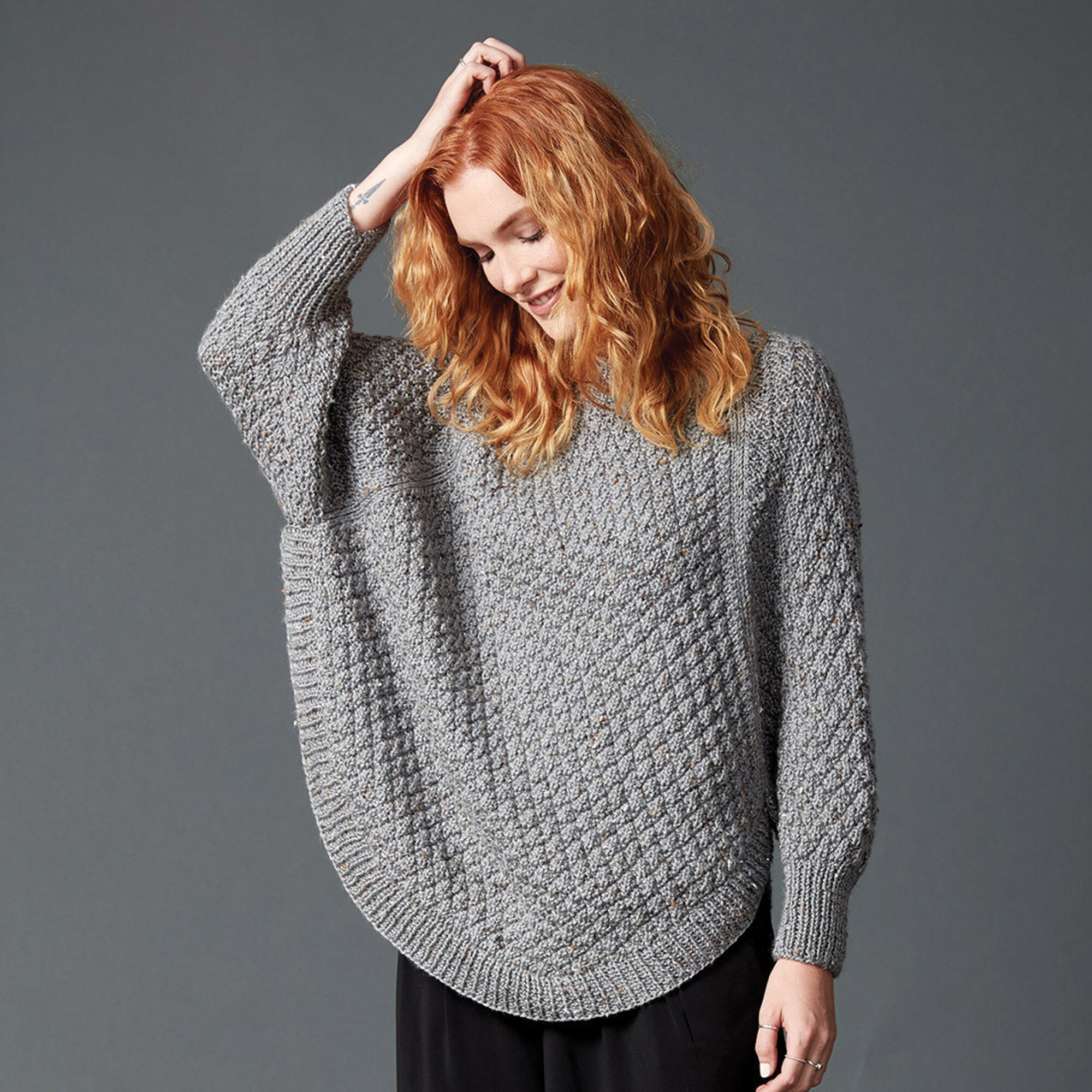 ecffd8086cd2 ... Caron Great Curves Knit Poncho