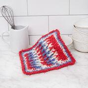 Red Heart Post Stitch Crochet Washcloth