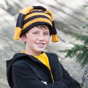 Red Heart Hockey Fan Knit Hat, S