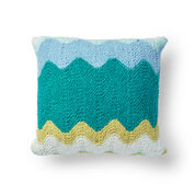 Bernat Zig-Zag Breezy Knit Pillow