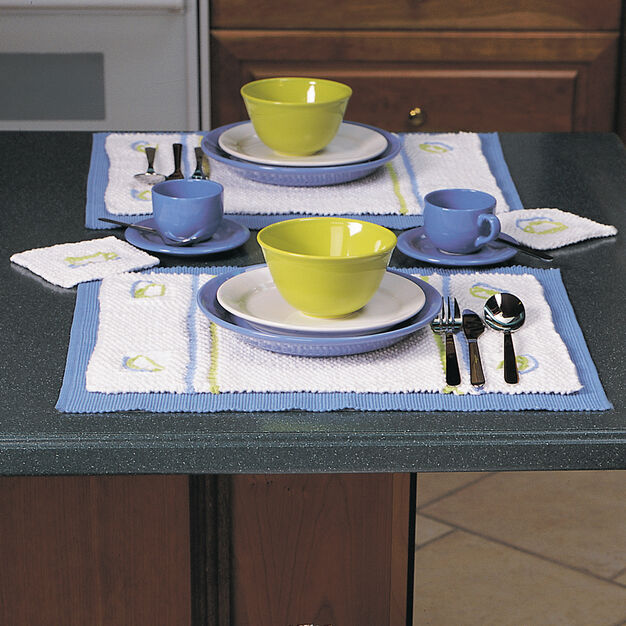 Lily Sugar'n Cream Placemats & Coasters, Coasters in color