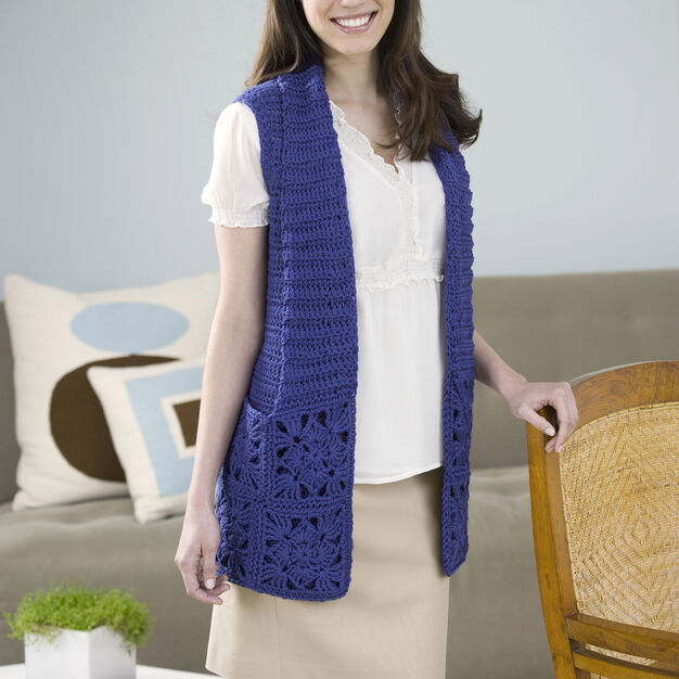 Red Heart Bamboo Wool Vest, XS
