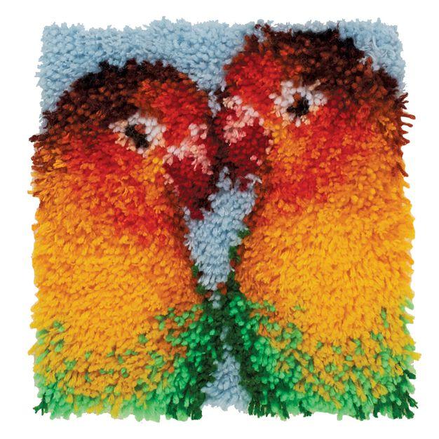 Wonderart Lovebirds 12 X 12 in color