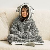 Go to Product: Bernat Funky Donkey Kids Crochet Blanket Hoodie, 6/8 yrs in color