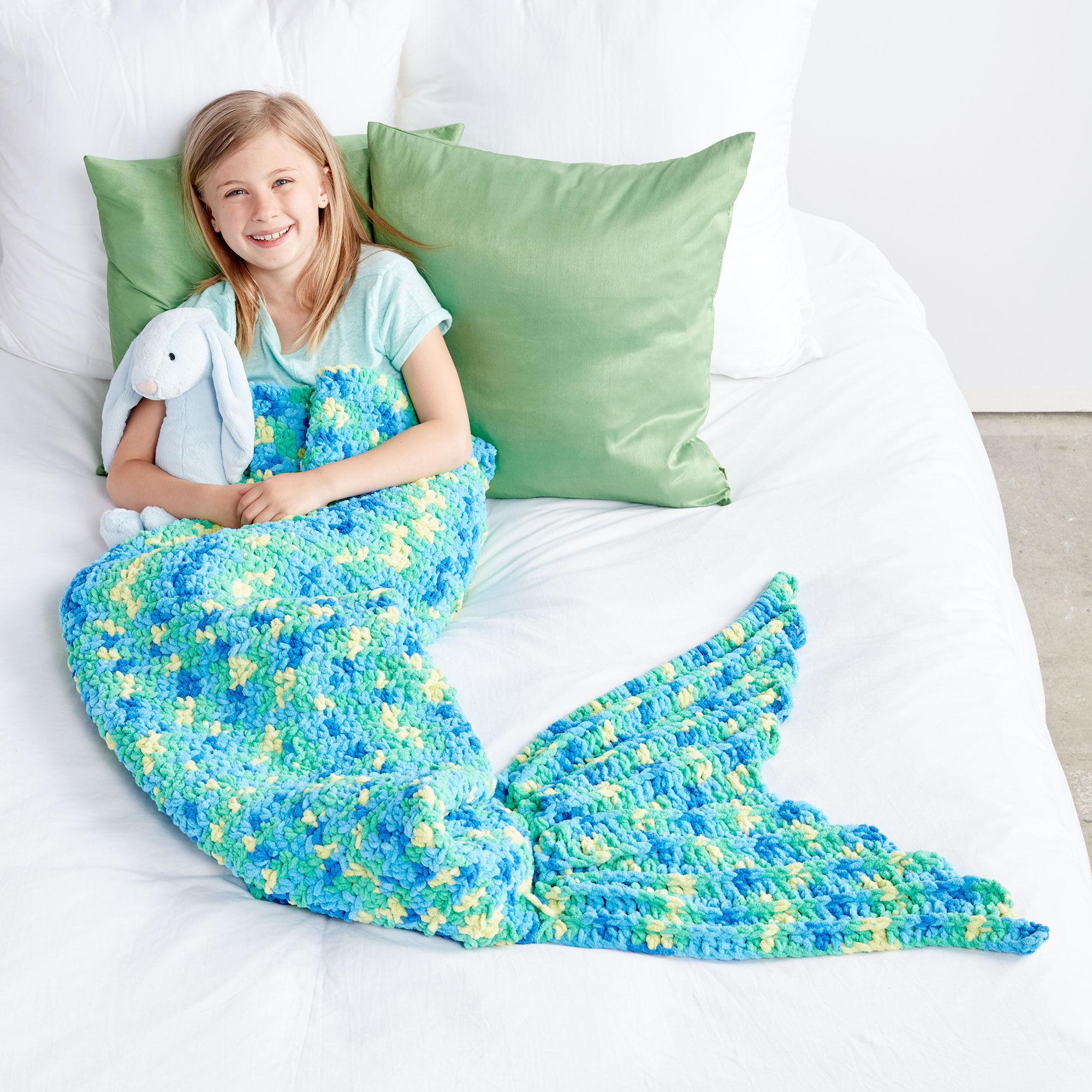 Groovy Bernat My Mermaid Crochet Snuggle Sack Blue Yarnspirations Machost Co Dining Chair Design Ideas Machostcouk