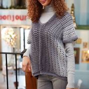 Red Heart Two-Rectangle Sweater, S