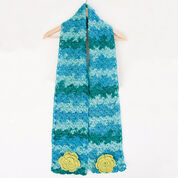 Go to Product: Caron Cozy Posy Scarf, Saturday Blue Jeans in color