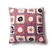Bernat Pretty Granny Square Pillow