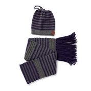 Sugar Bush Crochet Slouchy Hat & Scarf , S