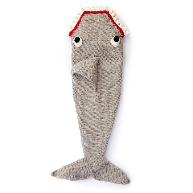 Bernat Fin Tastic Shark Snuggle Sack Yarnspirations