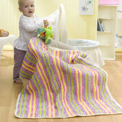 Go to Product: Red Heart Wavy Stripes Baby Blanket in color