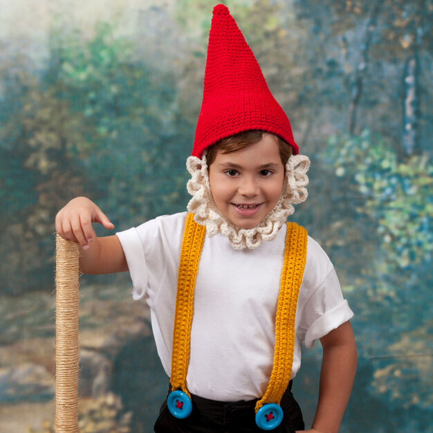 Red Heart Kidding Around Gnome Costume, 4 yrs in color
