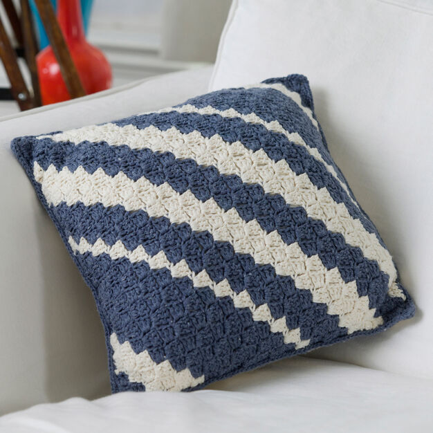 Red Heart Diagonal Pillow in color