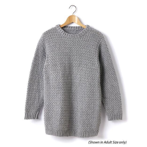 Caron Child's Crochet Crew Neck Pullover, Size 2 in color