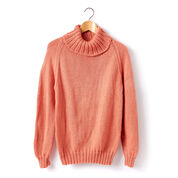 Caron Adult Knit Turtle Neck Pullover, XS/S