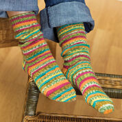 Go to Product: Red Heart Self-Striping Knit Socks, 5 in color