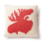 Bernat Very Amooseing Knit Pillow