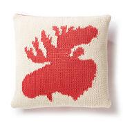 Bernat Very Amooseing Knit Pillow