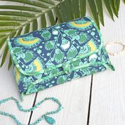Dual Duty Cosmetic Roll With Zipper Pouch