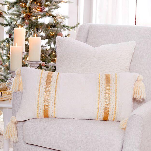 Coats & Clark Golden Accents Pillow in color