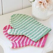 Red Heart Crochet Bath Mitt