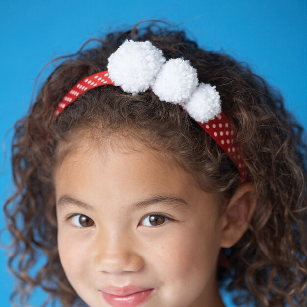 Bernat Pompom Headband in color