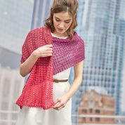 Red Heart Delicate Romance Shawl