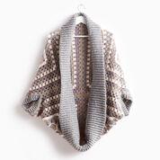 Patons Coziest Crochet Cardigan, XS/S/M