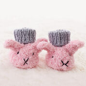 Go to Product: Bernat Itty Bitty Fuzzy Wuzzy Bunny Booties, 3 mos in color