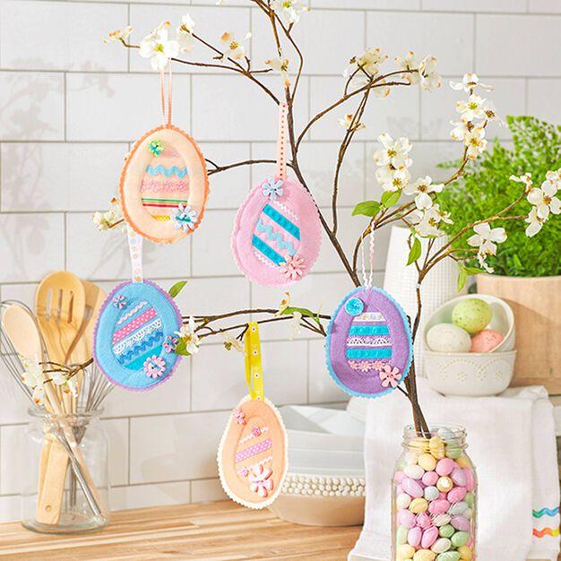 Coats & Clark Easter Egg Ornaments in color