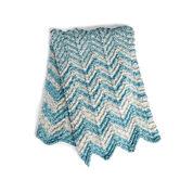 Bernat Shifting Chevrons Knit Blanket