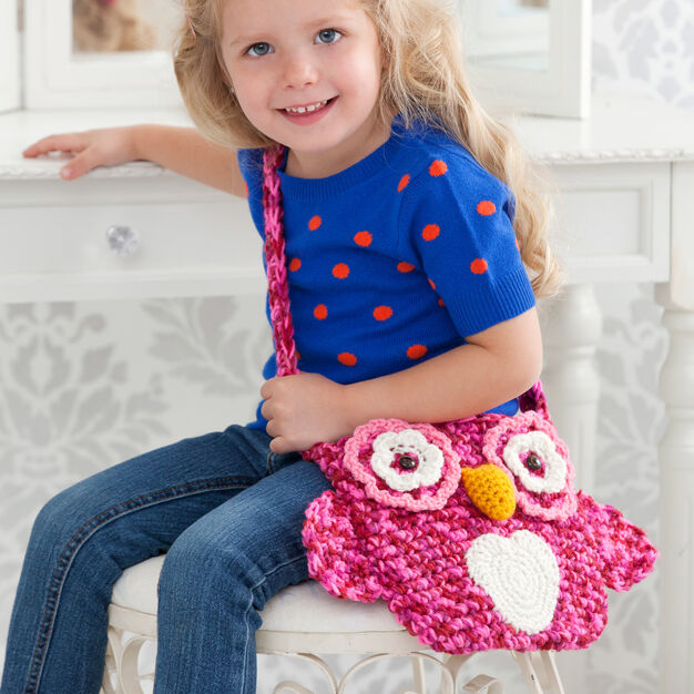 Red Heart Wise Owl Tote Bag in color
